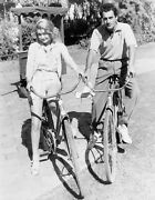 8b20-9485 Constance Bennett Gilbert Roland Go For Bicycle Ride 8b20-9485
