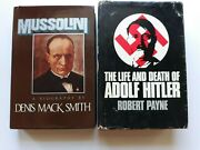 2 Hardcover Books Ww2 Biographies Adolf Hitler And Benito Mussolini