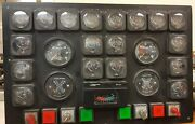 Twin Diesel Master Instrumentation Control Panel Marine W/ Gauges And Breakers
