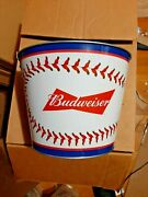 Budweiser Mlb Beer Bucket 2 Pack And Red Stripe Bottle Opener...free Shipping