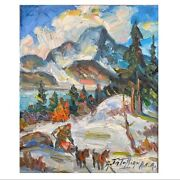 Armand Tatossian Rca Quebec Mont Blanc Oil On Canvas 12 By 10