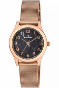 Watch Woman Radiant New Tender Ra414207 Of Stainless Steel Plated Gold Pink
