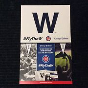 Cubs Fly The W Poster Chicago Tribune World Champions 2016