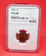 1885 Proof Indian Head Cent Ncg Pf65 Rb - Andnbspgreat Type Coin