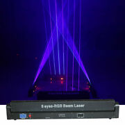 2.4w 8 Heads Rgb Beam Laser Moving Light Disco Xmas Party Background Stage Light