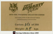Factory Case-- Select 2012 Nrl Dynasty Cards Factory Case 12 Boxes--hot