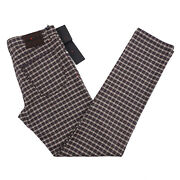 Kiton Slim-fit Multi Check Soft Mid-weight Flannel Wool 5-pocket Pants 34 Jeans