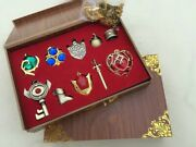 The Legend Of Zelda Triforce Hylian Shield And Master Sword Keychain Necklace