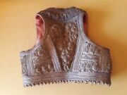 18th Century Greek Costume Ladies Vest With Gold Thread Embroidery