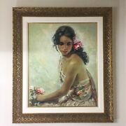 Jose Royo Andaluza 2001 Serigraph On Panel Limited Edition A.p. 6/40 6500 Valu