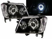 Colorado Rc 08-12 Facelift Guide Led Halo Feux Avant Phare Black For Holden Lhd