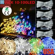 Us Led Christmas String Lights Indoor Outdoor Battery Operated Fairy Party Decor