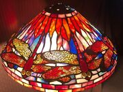 16 Rare Vintage Style Stained Glass Dragonfly Lamp Shade