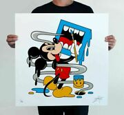 Sold Out Greg Mike Mickey Mouf 2 Print Edition Of 90 7 Color Screenprint