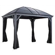 Sojag Moreno 10and039 X 14and039 Sun Shelter With Steel Roof And Netting Ships From Factory