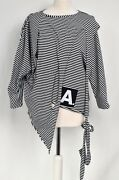 Gorgeous Stripe Creare Splitted And039 Quirky Asymmetric Layering Tunic Sz L/xl/xxl