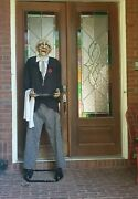 Life Size Butler Halloween Prop Animated Spooky Scary Costume Talks