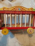 Vintage 1960s Fisher Price Circus Wooden Play Set