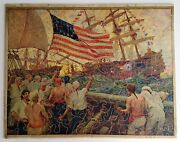 Vintage Wooden Jigsaw Puzzle 160 Pcs The First Salute Fletcher C Ransom