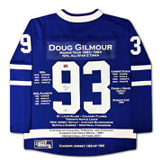 Doug Gilmour Career Jersey 193 Of 193 - Autographed - Toronto Maple Leafs
