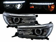 Hilux Revo 15-present 2d/4d Led Projector Feux Avant Phare Chrome For Toyota Lhd