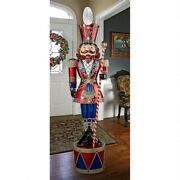 Grand Scale 6and039 Led Lighted Band Leader Nutcracker Soldier Christmas Lawn Decor