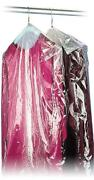 40 21x7 Crystal Clear Plastic Dry Cleaning Poly Garment Bags - 600 Bags / Roll