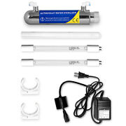 Ultraviolet Light Water Purifier Whole House Sterilizer 6w 1gpm 1 Extra Bulb