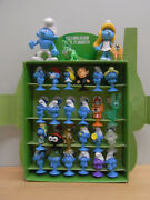 Complete Set In Box With 26 Smurfs 24 Stikeez Smurfs + 2 Limited Editions Rare