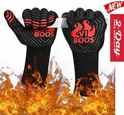 Bbq Grill Gloves, 1472 Extreme Heat Resistant Grilling Gloves For Cooking