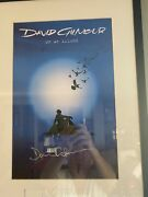 David Gilmour Pink Floyd On A Island Signed And Framed Lithograph Very Rare