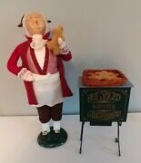 Byers Choice 1996 Signed Gingerbread Vendor With Oven. Ex. Condition