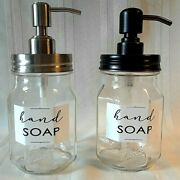 Ball Mason Soap Dispenser Oil Rubbed Bronze And Stainless Lid And Pump