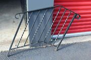 Vintage Wrought Iron Metal Fence Railing Architectural Garden Accent 2a