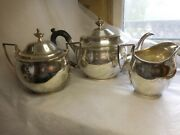 American Federal Period Coin Silver Tea Set John And Peter Targee New York Ny 1800