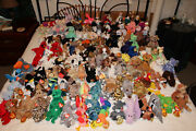 Retired Beanie Baby 400 + Large Lot With Babies And Mcdonalds And Internationals