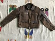 40's Hartmann German Flying Leather Jacket , French Cyclist Excellent Condition