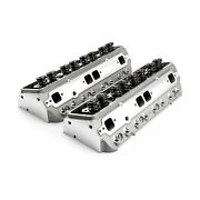 Chevy Sbc 350 205cc 64cc Straight Solid Flat Assembled Cylinder Heads
