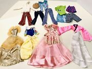Barbie And Ken Clothing Lot Vintage 1970and039s -1990and039s Over 57 Pieces Rupunzel Mulan