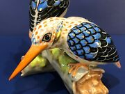 Herend Figurine - Black-backed Kingfishers - Reserve Collection 2875