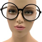 Super Large Xxl Oversized Thick Frame Circle Round Clear Lens Glasses Costume