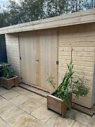 Wooden Garden Shed Pent Roof Shiplap Tongue And Groove Heavy Duty Floor And Roof