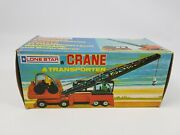 Lone Star Crane And Transporter Vintage Toy 1976 Boxed Diecast Excellent