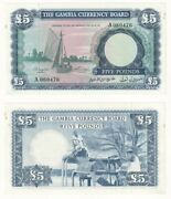 Gambia Andpound5 Banknote 1964 Pick Ref 3a - Aunc.