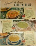 Lot Of 12 Vintage Campbell's Soup Print Ads