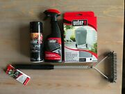 Weber Grill Cover 22 Inches Grill Brush Grill Cleaner Grill Spray Bundle