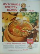 Lot Of 12 Vintage Campbell's Soup Print Ads Good Things Begin To Happen When...