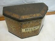 Early John Campbell Tiny Tot Toffee Rice Tin England Candy English Biscuit