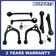 8x Front Upper Lower Control Arm Kit Fit For Chrysler 300rwd Dodge Charger 11-17