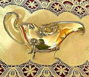 Unger Brothers Figural Lady And Water Lilies Gravy Boat Bowl Sterling